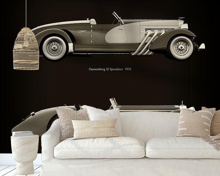 Beispiel fototapete: Duesenberg SJ Speedster 1933 und Mercedes-Benz SSK-710 1930 von Jan Keteleer