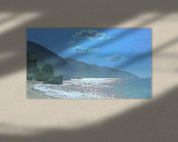 Monterosso - Cinque Terre - Italiaanse Riviere - Geschilderde Tekening