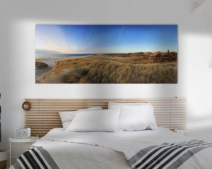 Sfeerimpressie: Sylt Panorama - Weststrand en Quermarkenfeuer van Frank Herrmann
