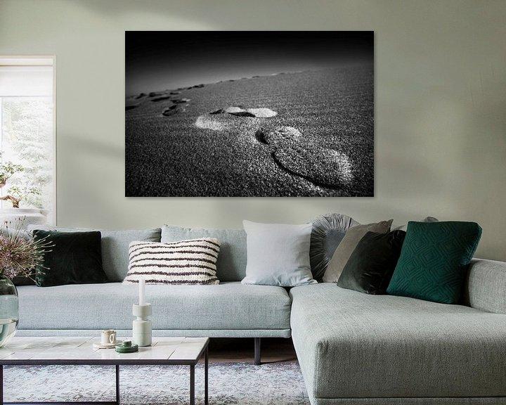 Impression: Empreintes dans le sable sur Frank Herrmann