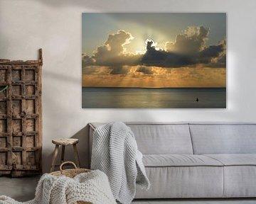 Coucher de soleil sur la côte de Walcheren sur Love Zeeland