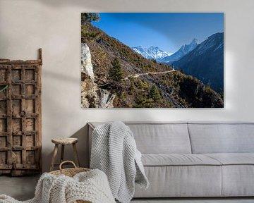 Trekking Nepal uitzicht Ama Dablam van Ton Tolboom