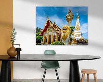 Wat Phra That Phanom dans la ville That Phanom en Thaïlande sur Theo Molenaar