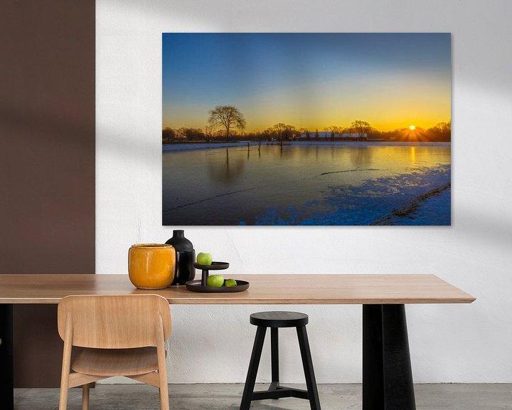 Sfeerimpressie: zonsopkomst in Moerenburg van Freddie de Roeck
