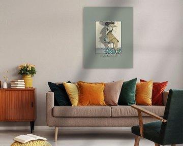 Le reflex dans le miroir - Historische retro Art Deco mode prent van NOONY