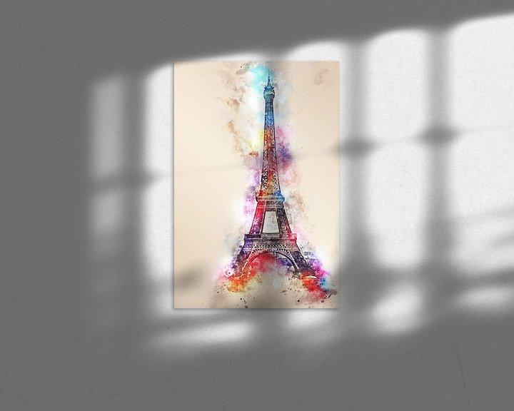 Sfeerimpressie: Eiffeltoren - Parijs (tekstloos) van Sharon Harthoorn