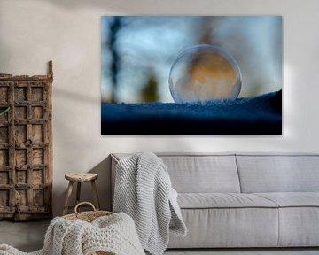 Winter - Bevroren zeepbel III van Gerben van den Hazel