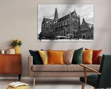 St. Bavokerk - Haarlem Winter 2021 van Alex C.