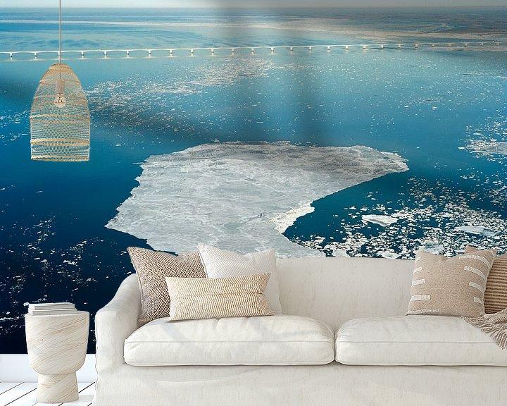 Impression: Glace flottante dans l'Escaut oriental sur Sky Pictures Fotografie