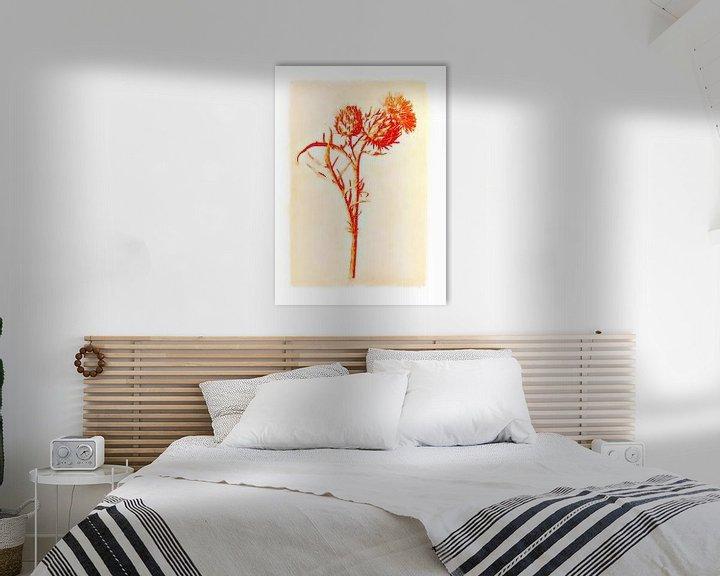 Impression: Fleurs dans le style de dessin 1 sur Ariadna de Raadt-Goldberg