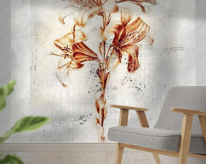 Impression: Fleurs dans le style de dessin 4 sur Ariadna de Raadt-Goldberg
