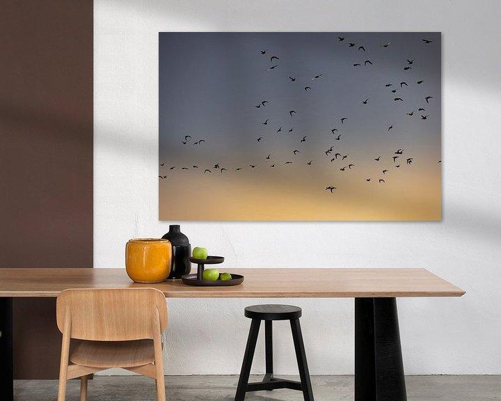 Beispiel: Vögel fliegen bei Sonnenaufgang 2 von Percy's fotografie