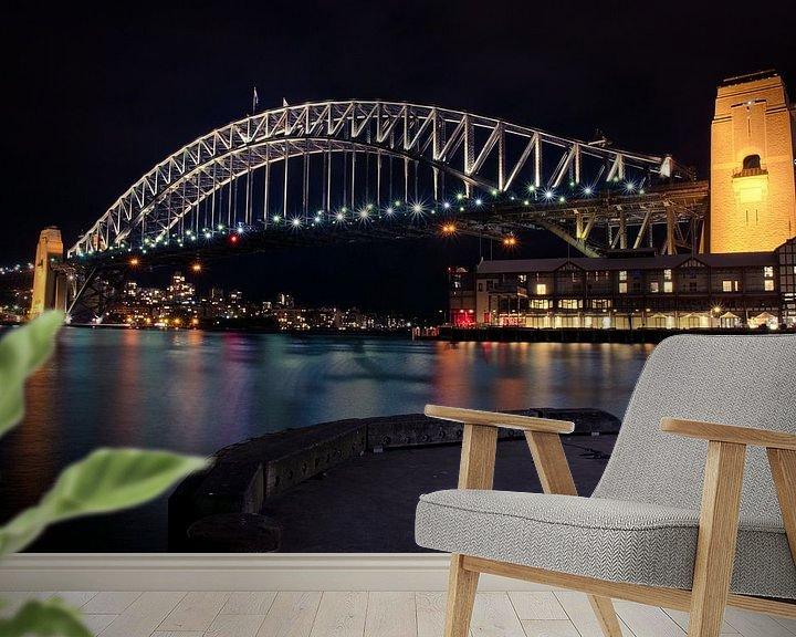 Sfeerimpressie behang: Sydney Harbour Bridge van Sven Wildschut