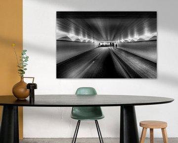 surrealistische blik op viaduct