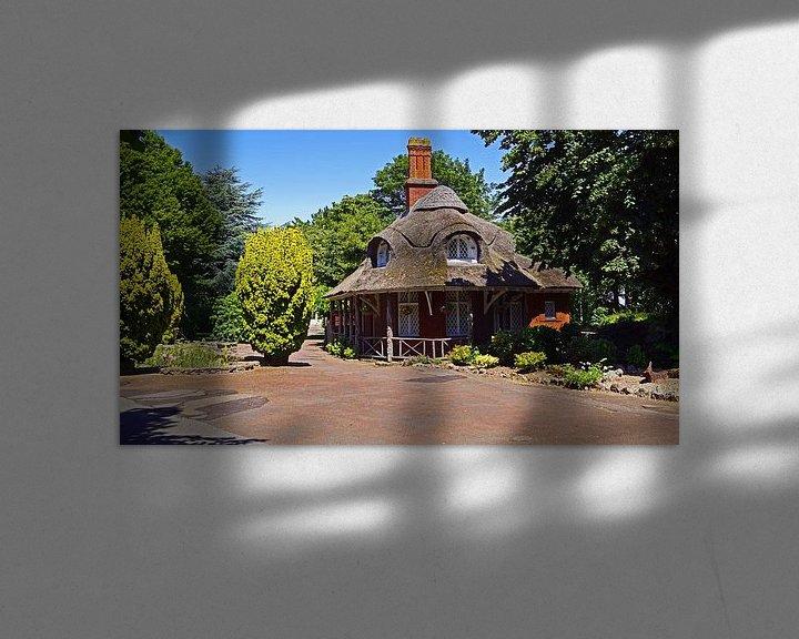 Sfeerimpressie: Gebouw met rode klinkers en rieten dak van Babetts Bildergalerie