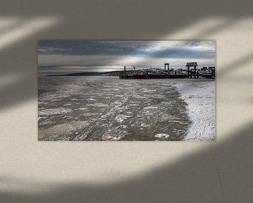 Bevroren Waddenzee Havenweg Vlieland. van Gerard Koster Joenje (Vlieland, Amsterdam & Lelystad in beeld)