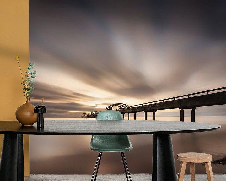 Beispiel fototapete: Seebrücke mit tollem Himmel am Strand von Kellenhusen an der Ostsee zum Sonnenaufgang von Voss Fine Art Fotografie