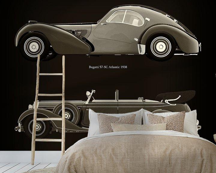 Beispiel fototapete: Bugatti 57-SC Atlantic 1938 und Mercedes 770-K Limousine 1938 von Jan Keteleer