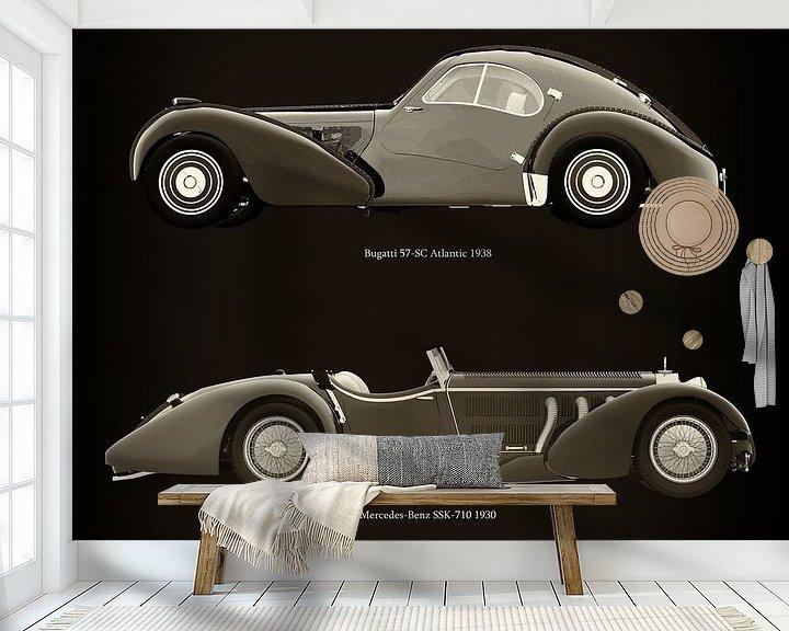 Impression: Bugatti 57-SC Atlantic 1938 et Mercedes-Benz SSK-710 1930 sur Jan Keteleer