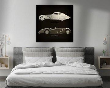 Delage D8-120 Aerosport 1938 en Mercedes-Benz SSK-710 1930