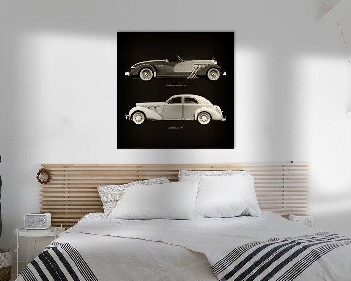 Sfeerimpressie: Duesenberg SJ Speedster 1933 en Cord 812 Sedan 1936 van Jan Keteleer