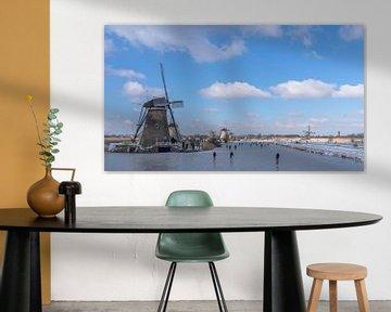 Kinderdijk, Nederlands winterparadijs van René van Leeuwen