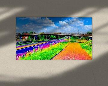De Krul Fahrrad- und Fußgängerbrücke von Digital Art Nederland