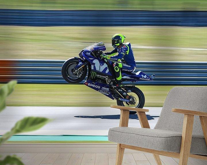 Sfeerimpressie behang: Valentino Rossi van Marco Dek