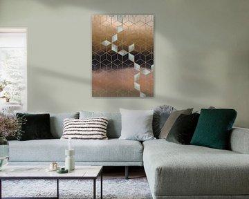 Moderne abstracte kunst -growing diamonds van Studio Malabar
