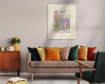 Pastels - Historische Art Deco Mode prent van NOONY