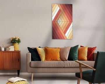 Abstrakte Kunst - Feuer-Linien von Studio Malabar