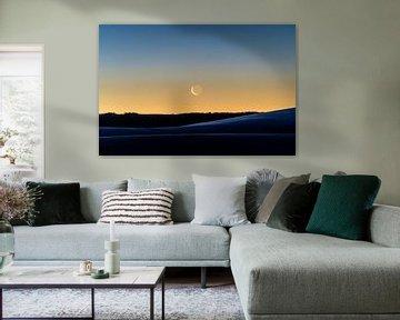 Mondsichel zum Sonnenaufgang von Marcel Lohr