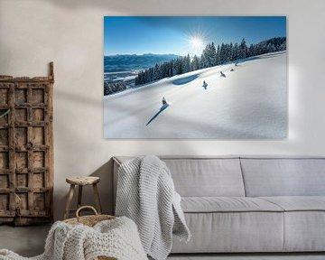Paysage d'hiver dans l'Allgäu sur Leo Schindzielorz