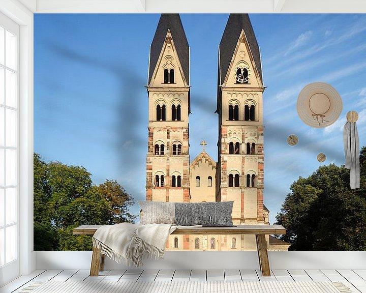 Sfeerimpressie behang: Basiliek St. Kastor, Koblenz, Rijnland-Palts, Duitsland van Torsten Krüger