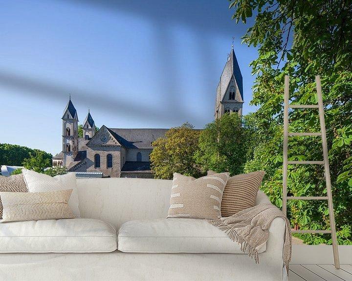 Beispiel fototapete: Basilika St. Kastor, Koblenz, Rheinland-Pfalz, Deutschland, Europa von Torsten Krüger
