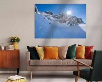 Le massif montagneux suisse en tenue d'hiver sur Leo Schindzielorz