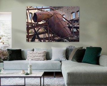 Abriss Zyklonfilter im alten Speicher der Böllberger Mühle in Halle von Babetts Bildergalerie