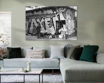 Graffiti zwart wit