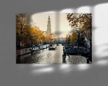 "Jordaan vers la Westerkerk ""Automne&quot ; sur Charles Poorter"
