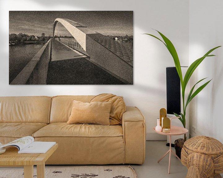 Sfeerimpressie: brug met boog van Corrie Ruijer