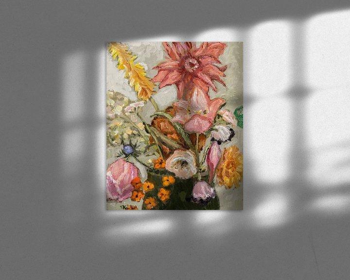 Sfeerimpressie: Veldboeket met tulpen van Tanja Koelemij