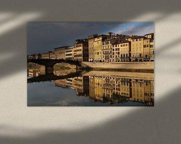 Ponte Santa Trinita Brücke in Florenz von Jan Kranendonk