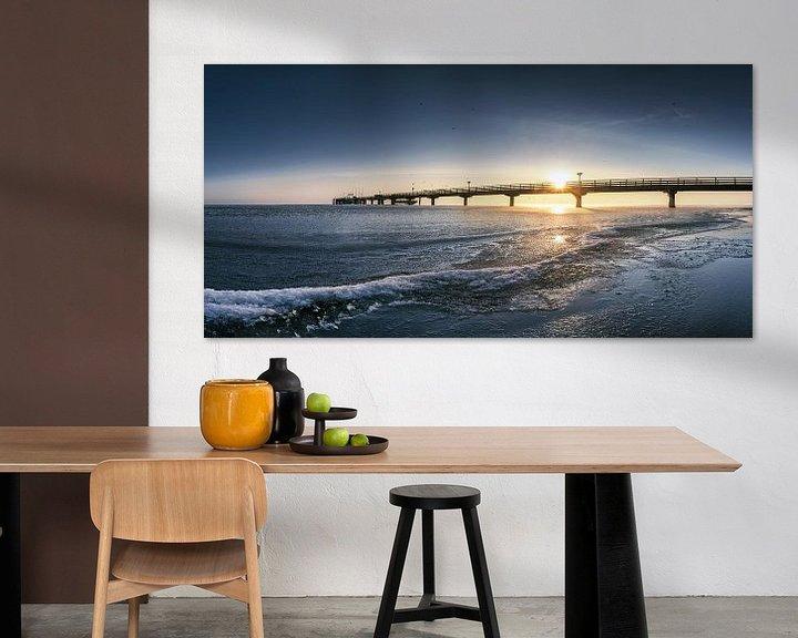 Beispiel: Winterstrand in Scharbeutz an der Ostsee mit Seebrücke von Voss Fine Art Fotografie
