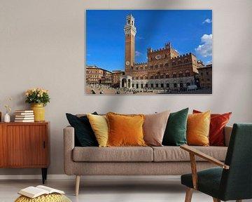 Piazza del Campo in Siena von Jan Kranendonk