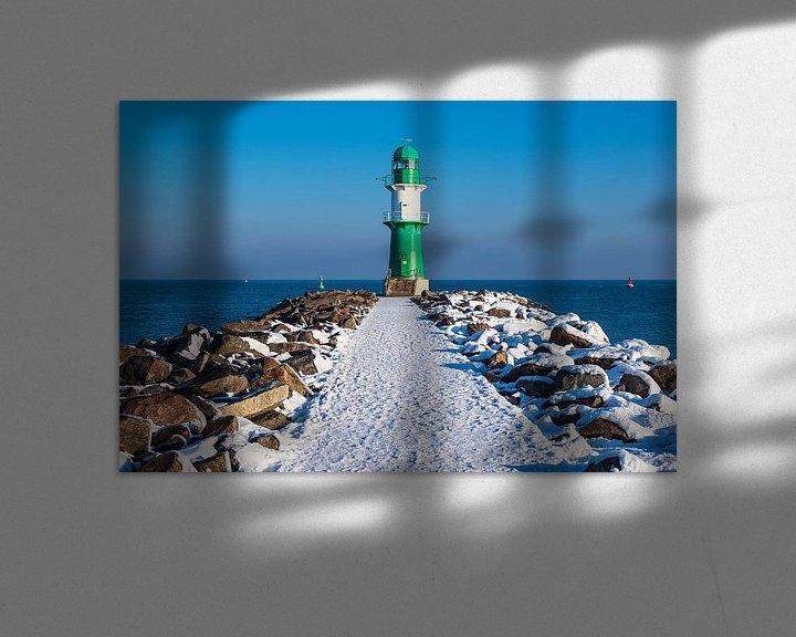 Beispiel: Mole an der Ostseeküste in Warnemünde im Winter. von Rico Ködder
