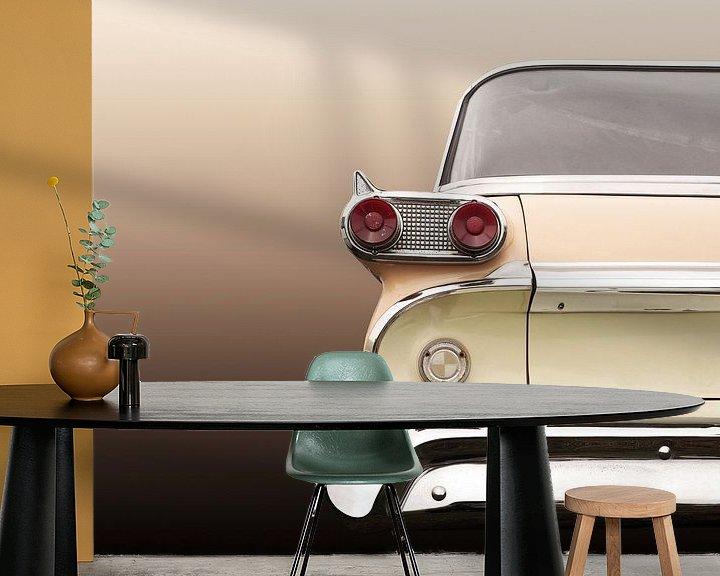 Sfeerimpressie behang: Amerikaanse oldtimer 1959 Villager station wagon van Beate Gube