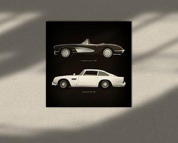 Chevrolet Corvette C1 1960 en Aston Martin DB5 1963