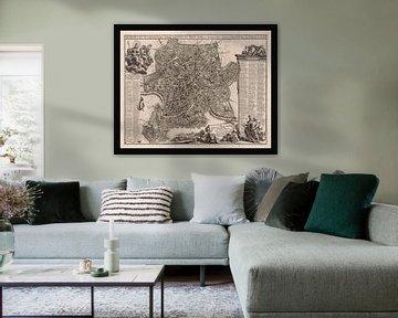 Oude kaart van Rome van omstreeks 1695 van Gert Hilbink