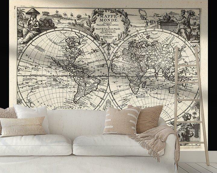 Beispiel fototapete: Alte Weltkarte aus der Zeit um 1625 von Gert Hilbink