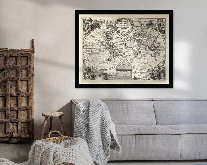 Beispiel: Alte Weltkarte aus der Zeit um 1625 von Gert Hilbink